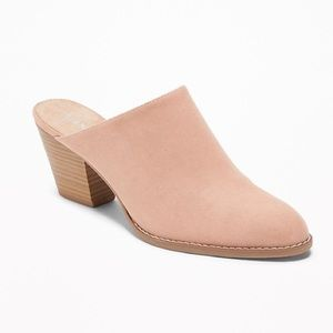 Old Navy Mules, Faux Suede (Blush/Nude) Size:8